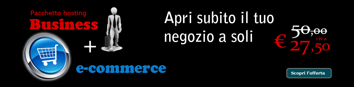 Promo Hosting negozio e-commerce